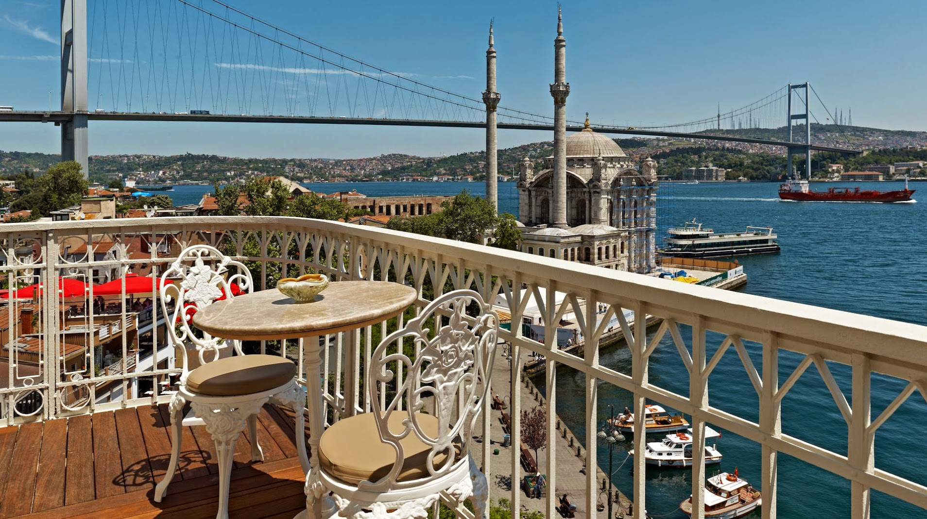 house hotel bosphorus ortakoy balcony