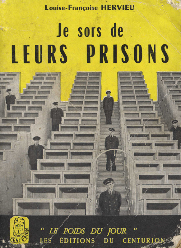 Couverture de polar vintage : Je sors de leurs prisons (Louise-Françoise HERVIEU) - Pour vous Madame, pour vous Monsieur, des publicités, illustrations et rédactionnels choisis avec amour dans des publications des années 50, 60 et 70. Popcards Factory vous offre des divertissements de qualité. Vous pouvez également nous retrouver sur www.popcards.fr et www.filmfix.fr   - For you Madame, for you Sir, advertising, illustrations and editorials lovingly selected in publications from the fourties, the sixties and the seventies. Popcards Factory offers quality entertainment. You may also find us on www.popcards.fr and www.filmfix.fr