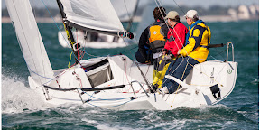 J/70 one-design speedster- sailing upwind
