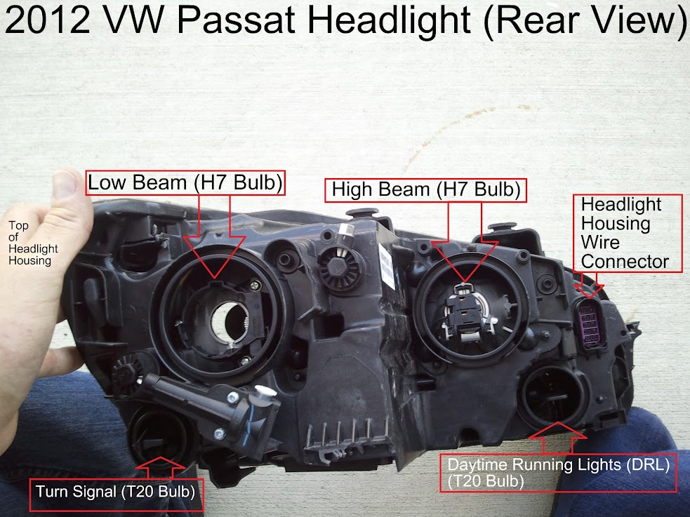 Rear+View+of+Passat+Headlight+housing 2012 passat hid diy install tdiclub forums VW Beetle Headlight Switch at nearapp.co