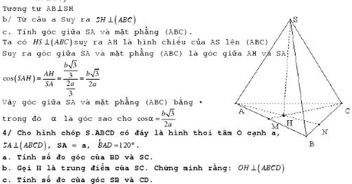 Hệ thống bài tập hình học không gian