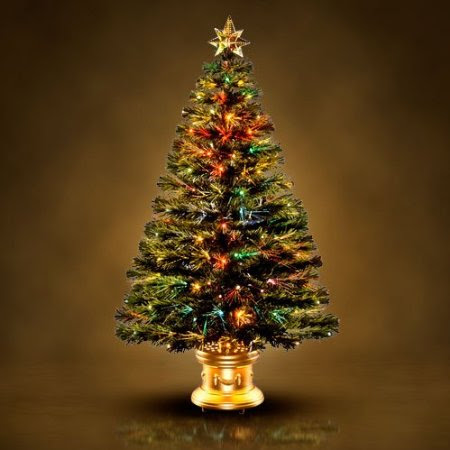 Fiber Optic Radiance Firework Christmas Tree with Top Star