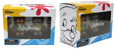TaleSpin Disney Afternoon Vinylmation 2-Pack - Kit and Baloo Vinyl Figures in Packaging