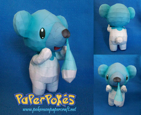 Pokemon Cubchoo Papercraft