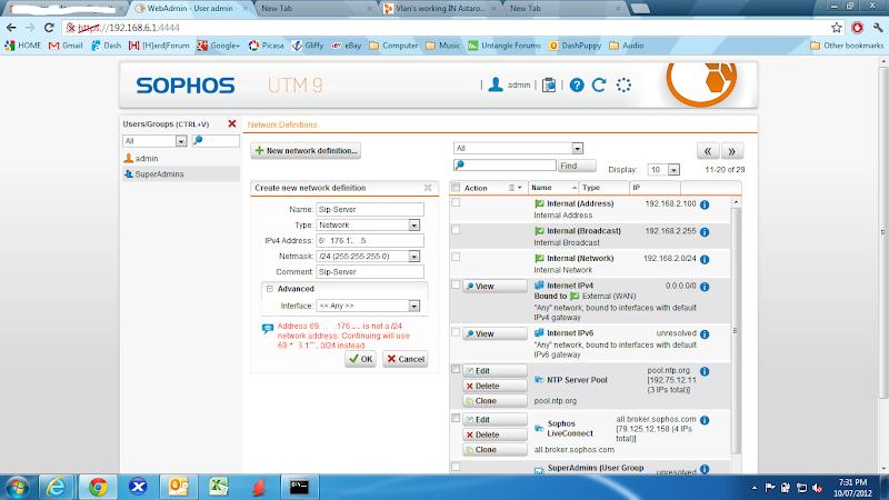 Vlan's working IN Astaro    - Network Protection: Firewall