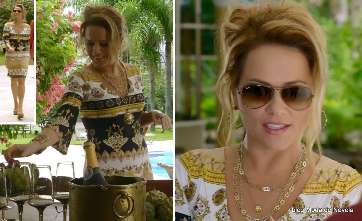moda da novela Em Família - look da Shirley no dia 19 de abril
