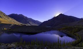 Sunrise on Phandar lake
