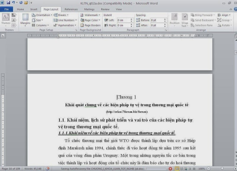 đánh số trang trong word 2007