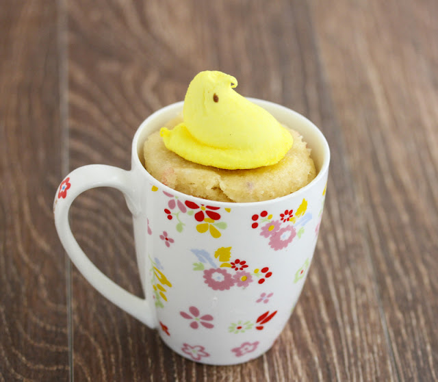 photo of an easter mug cake
