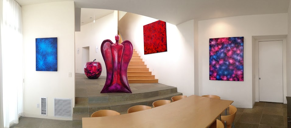 Victor Angelo Artist Modern Paintings Contemporary Art Architecture Interior Design Magazine Feature Living Room