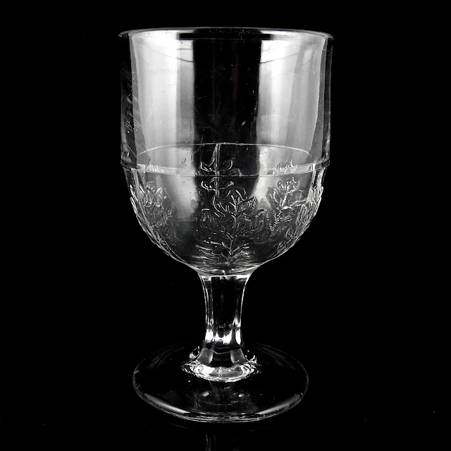 New Pressed Leaf Goblet by McKee Brothers