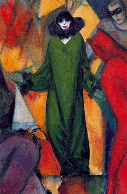 Albert Bloch - The Green Domino