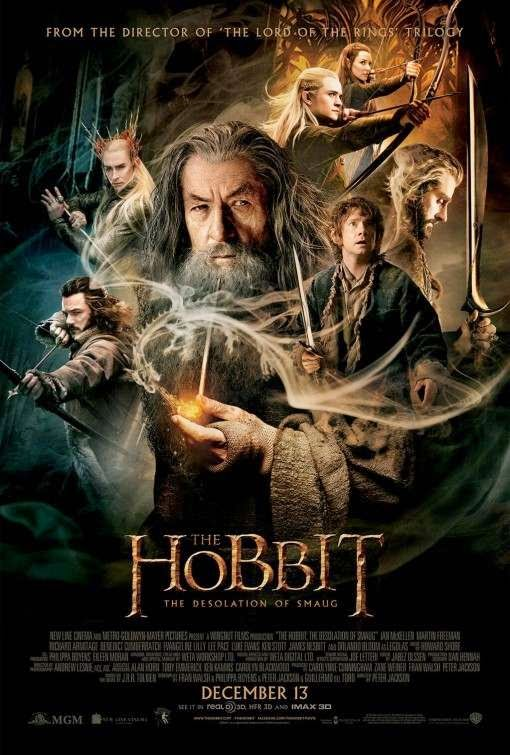 Poster Of The Hobbit: The Desolation of Smaug (2013) Full Movie Hindi Dubbed Free Download Watch Online At Alldownloads4u.Com