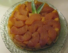 Tarte tatin aux pommes-ananas et caramel beurre salé