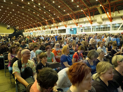 Crowd at at London YA Lit Con (YALC)