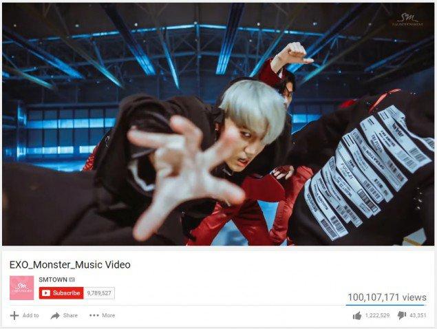 'Monster' là album thứ 4 đạt 100 triệu view của EXO