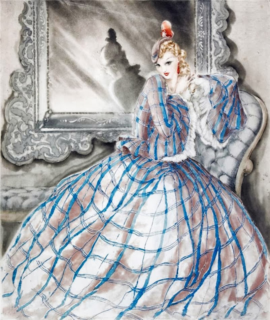 Louis Icart - Girl in Crinoline