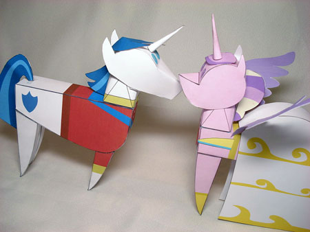 MLP Princess Cadance Shining Armor Papercraft