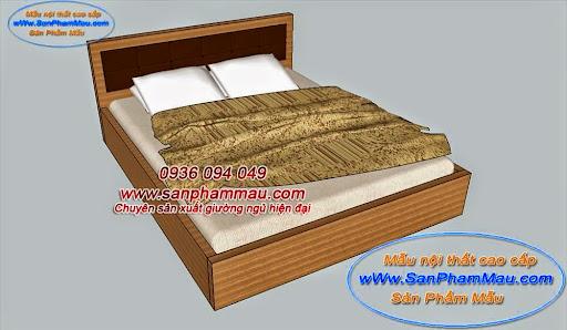 Mẫu giường hộp đơn giản