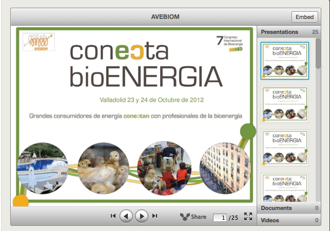 Presentaciones de conecta bioENERGIA 2012