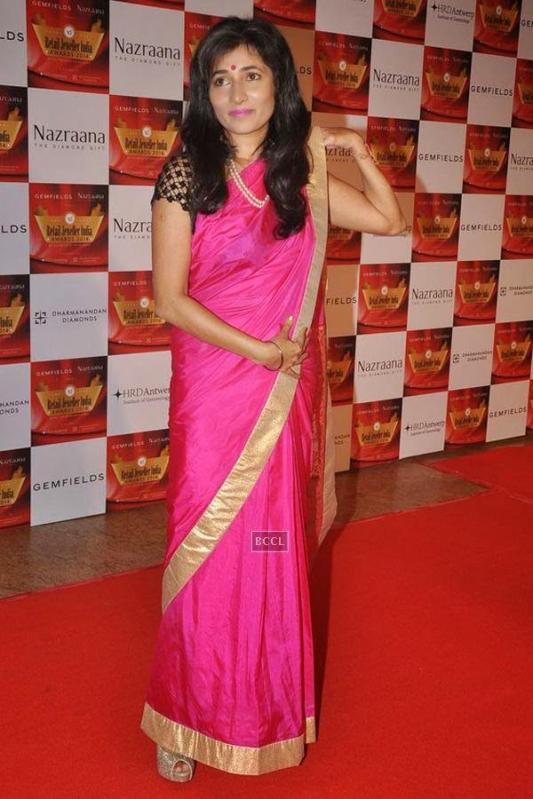 Schauna Chauhan Saluja during the 10th Annual Gemfields and Nazraana Retail Jeweller India Awards, 2014, in Mumbai, on July 19, 2014. (Pic: Viral Bhayani)