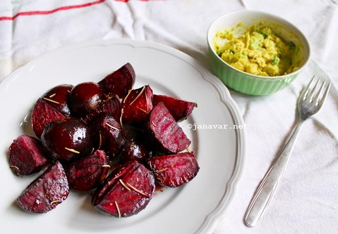 Food: Roast beetroot & avocado dip