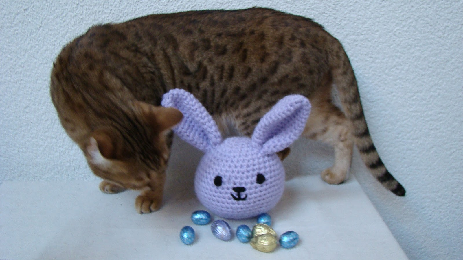 Amigurumi Cute Rabbit : Roving Around Crafts: Sweet Lilac Amigurumi Rabbit: in an ...
