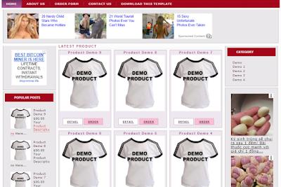 Mẫu template blogspot bán hàng free (Template demo2store)