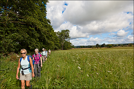 Club members walking near Helmsley