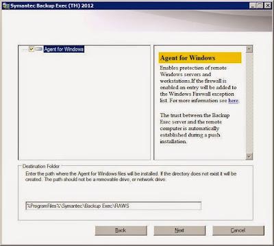 Añadir servidor y equipo a servidor de copia de seguridad Symantec Backup Exec 2012