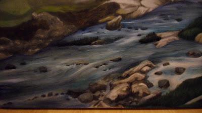 Work in Progress, Colour level 2. Source shows close up Where Loch runs into the sea