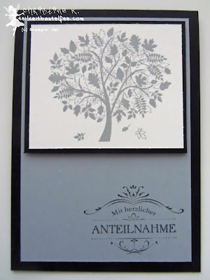 stampin up, leaves of a tree, trost in der trauer, sympathy card