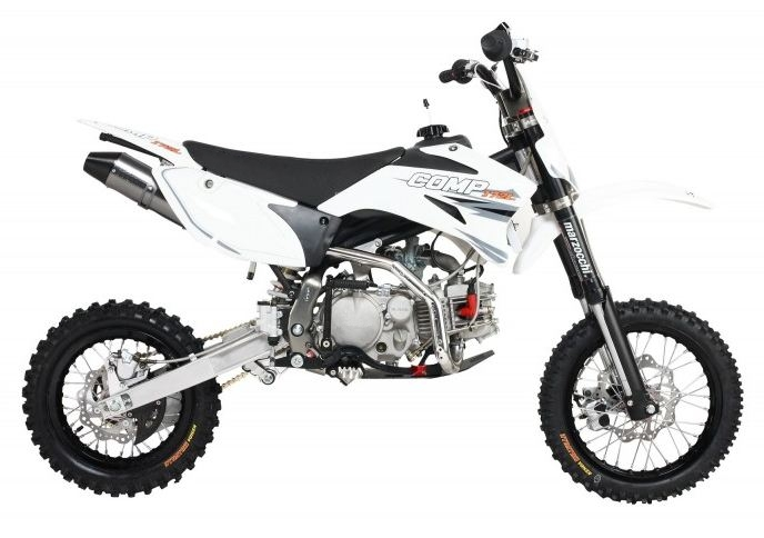 172cc Comp Pro Pit Bike White Marzoochi Forks