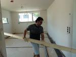Ein seltenes Bild: Bauherr bei der Arbeit...