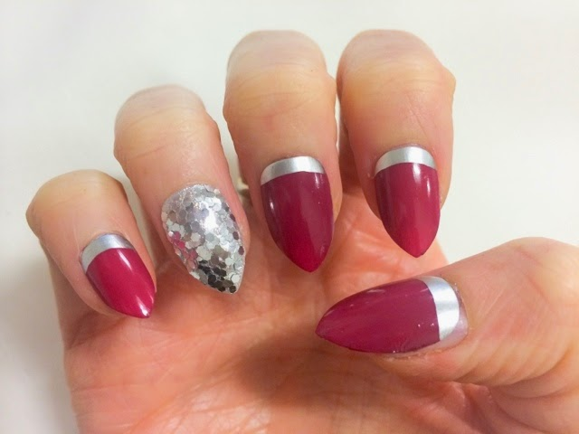 red-and-silver-nails