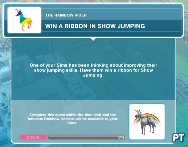 sims freeplay Rainbow Rider quest