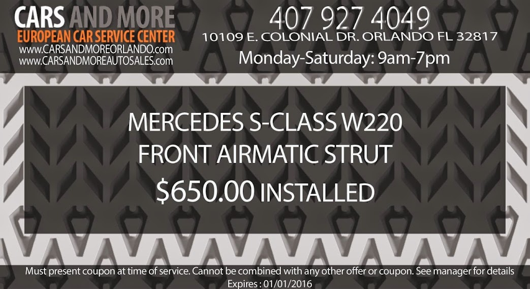 Mercedes S-class W220 front airmatic strut $650.00 Installed