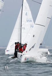J/70 - Dave Ullman sailing off San Diego, California