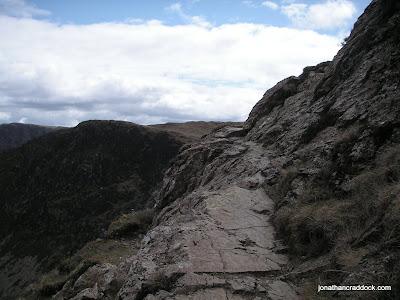 Easy scrambling over Blea Crags to Robinson