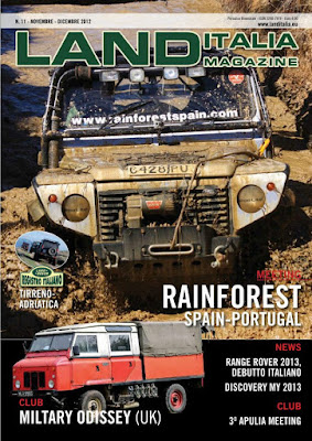 Challenger 4x4 makes the cover of Land Italia magazine