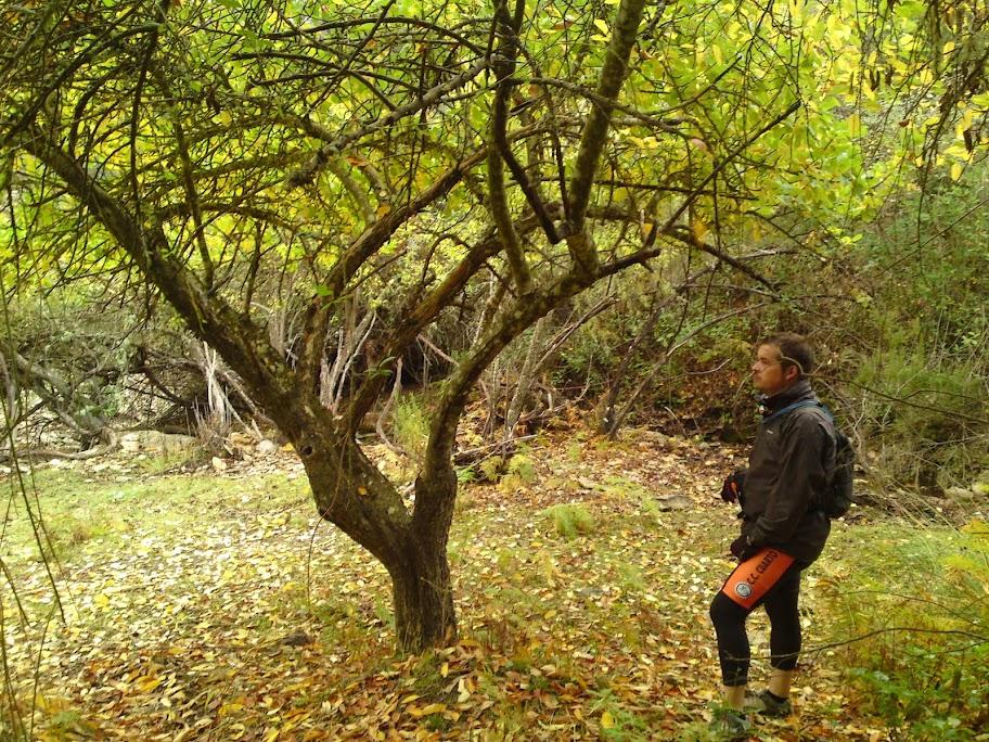 Nuestro amigo David en uno de los lugares pintoresco de Valverde