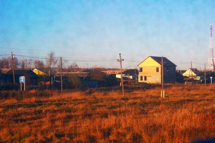 Russian houses Trans Siberian scenery