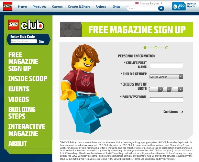 Arizona Families: Free LEGO Club Magazine Subscription