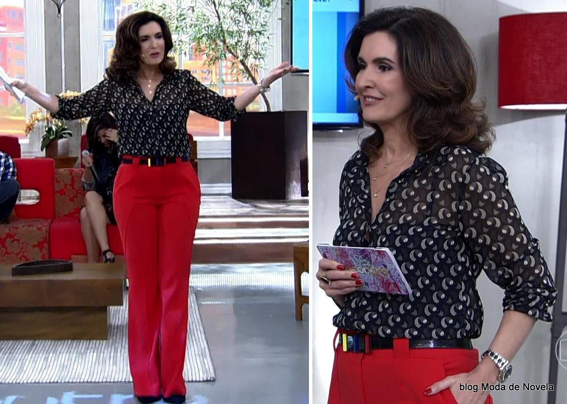 moda do programa Encontro - look da Fátima Bernardes dia 10 de julho
