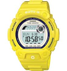 Jam Tangan Wanita Analog-Digital Tali Karet Warna Putih  Casio Baby G : BGA-240-7A