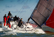 J/111 one-design offshore cruiser racer- sailing on Solent- Hamble winter series