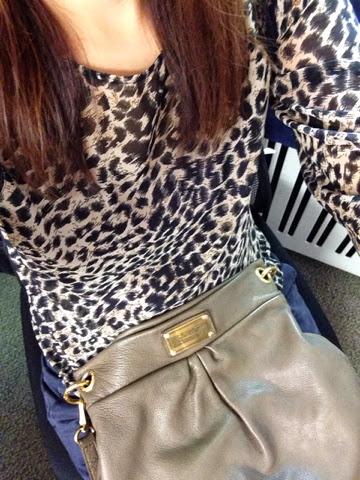 fe2c60b0194d Away From Heels  animal print blouse