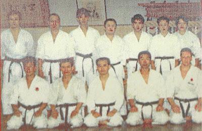 Ricardo García Mendaña en el Hombu Dojo, 1989