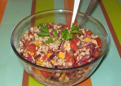 Salade de crozets - recette indexée dans la rubrique Entrées