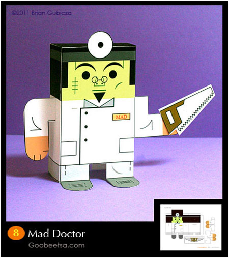 Mad Doctor Paper Toy